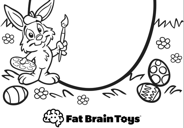 FREE Easter Printable Coloring Page by Fat Brain Toys