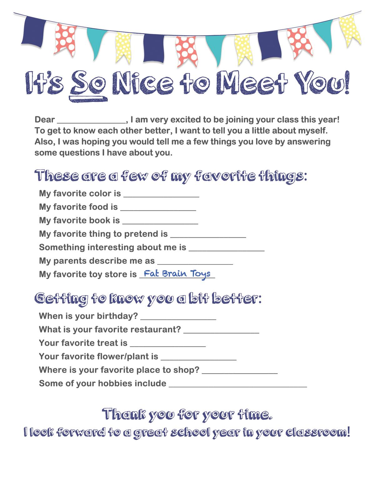 Smart image throughout getting to know you printable