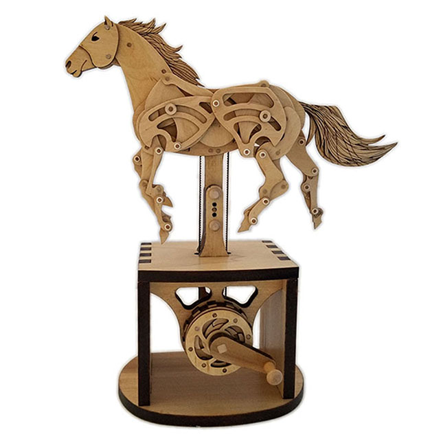 Horse Automata Kit - Building & Construction For Ages 10 To 12 - Fat Brain Toys