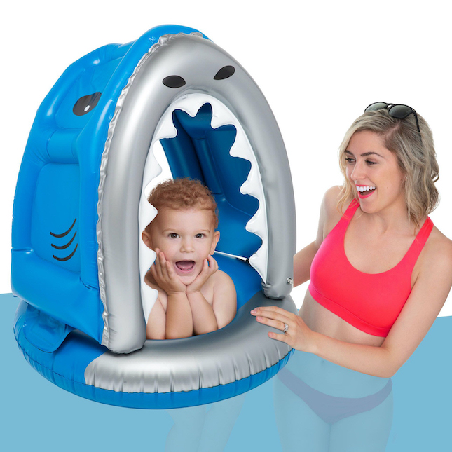 Lil' Shark Pool Float with Canopy - Active Play for...