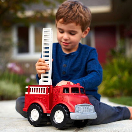Green Toys Fire Truck - Imaginative Play for Ages 1 to 2 - Fat Brain Toys