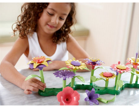 Green Toys Build-a-Bouquet - Building & Construction for Ages 3 to 4 - Fat Brain Toys