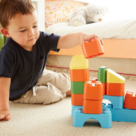 Green Toys Block Set - Baby Toys & Gifts for Babies - Fat Brain Toys