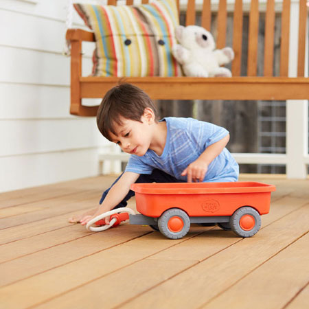 Green Toys Wagon - Active Play for Babies - Fat Brain Toys