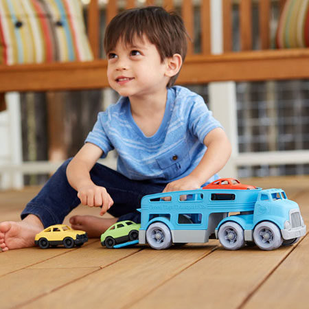 Green Toys Car Carrier - Imaginative Play for Babies - Fat Brain Toys