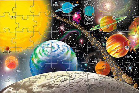 Solar System Floor Puzzle - Puzzles for Ages 3 to 7 - Fat Brain Toys