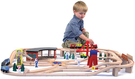 Customer Reviews of Wooden Railway Set by Melissa & Doug