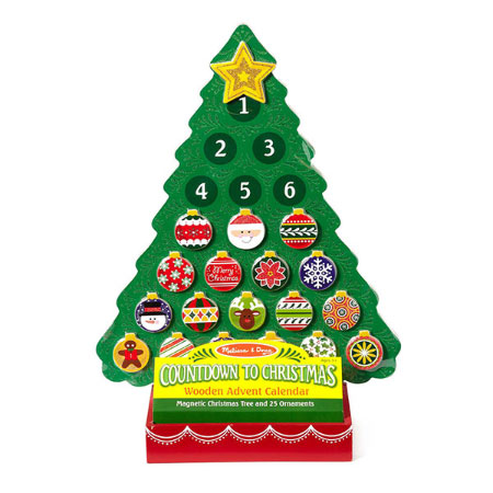 Countdown to Christmas Wooden Advent Calendar - Magnets & Magnetism for Ages 3 to 12 - Fat Brain Toys