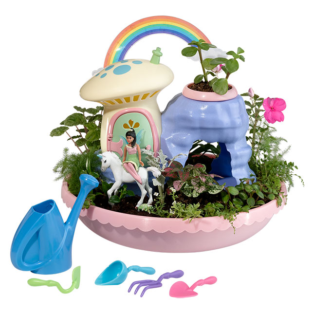Unicorn Paradise Fairy Garden - Imaginative Play for Ages 4 to 5 - Fat Brain Toys