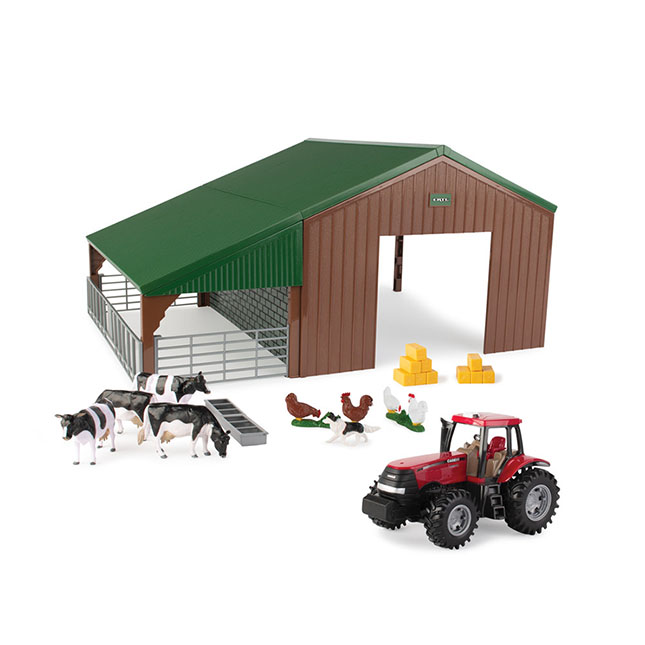Farm Building Set with Case Tractor -  - Fat Brain Toys