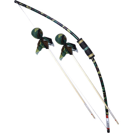 Camo Bow & Arrows Set with Bulls Eye - Active Play for Ages 6 to 11 - Fat Brain Toys