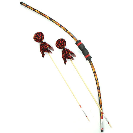 Flame Bow & Arrows Set with Bulls Eye - Active Play for Ages 6 to 8 - Fat Brain Toys