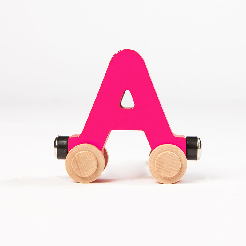 Spell-Your-Name Alphabet Railroad - Letter A - Classic & Retro Toys for Ages 3 to 4 - Fat Brain Toys