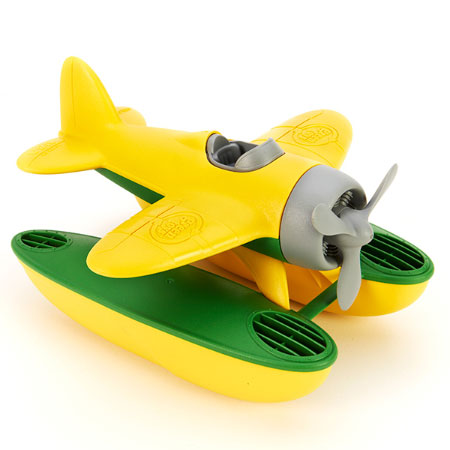 Green Toys Seaplane - Yellow Wings - Baby Toys & Gifts for Ages 1 to 4 - Fat Brain Toys