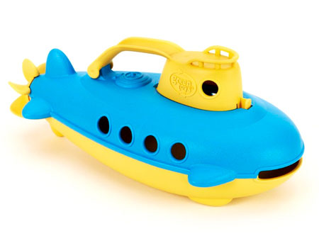 Green Toys Submarine - Yellow Handle - Baby Toys & Gifts for Ages 1 to 5 - Fat Brain Toys