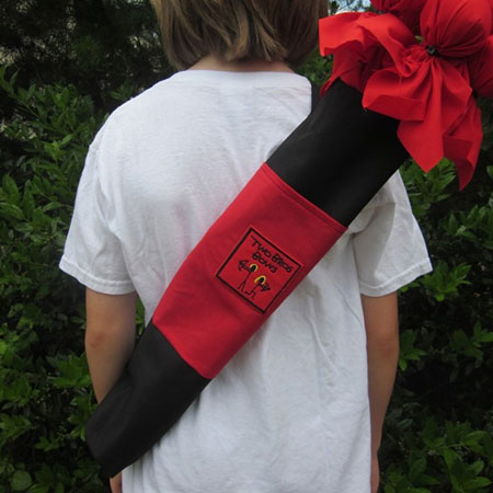 Two Bros Bows Red Quiver Bag - Active Play for Ages 6 to 7 - Fat Brain Toys