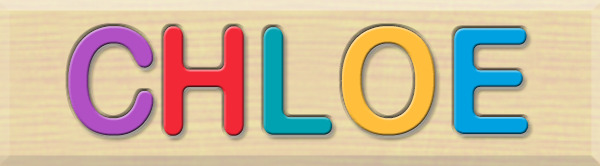 Personalized Name Puzzle - Chloe - Early Learning Toys for Babies - Fat Brain Toys